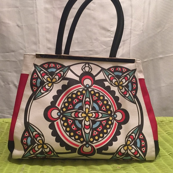 Big Buddha Handbags - Big Buddha tribal red/black/white RARE Dahlia Bag